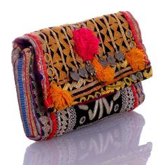 Atlas Wallet a TJORI design, $69.00, handmade in India from embroidered Rabari fabric for fab.com, pinned by Celina Bailey.