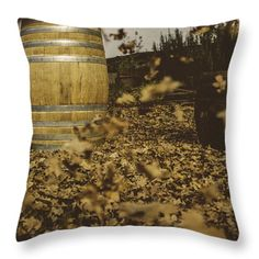 Fall In The Garden Throw Pillow by Cesare Bargiggia