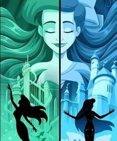 Disney Au, Disney Fan Art, Disney Girls, Disney Love, Disney Pixar, Disney Characters, Disney Princess Ariel, Disney Princess Drawings, Disney Drawings