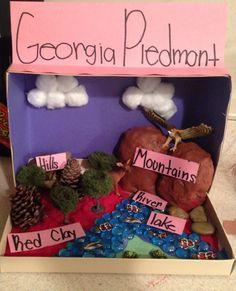 My Daughters Georgia Habitat Diorama