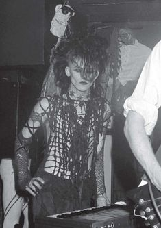 Johnny Slut of the band Specimen Deathrock Fashion, Punk Fashion, Gothic Fashion, 80s Goth, Punk Goth, Goth Bands, Goth Subculture, Goth Music, Gothic Culture