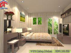 Mẫu phòng ngủ cao cấp thiết kế quyến rũ PTL102