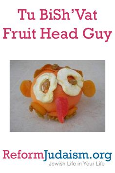 Meet Fruit Head Guy, the newest addition to your family during the Jewish holiday of Tu BiSh'Vat