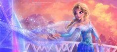 Elsa Frozen princess art http://rikamello.deviantart.com/art/Elsa-Let-it-go-439274925