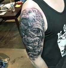 Poseidon by Brandon Evans at Revolution Ink in Birmingham, AL. Tattoos For Guys, Cool Tattoos, Men Tattoos, Awesome Tattoos, Poseidon Tattoo, Greek Gods, Tattoos With Meaning, Beautiful Tattoos, Tattoo Inspiration