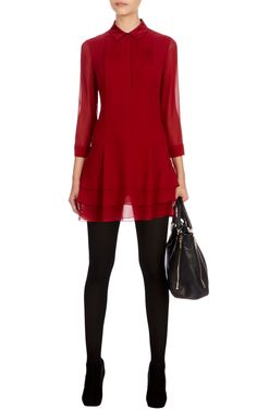 Pintuck detail shirt dress | Luxury Women's party | Karen Millen, £175