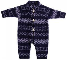 JOHA Heldragt i zigzag navyblå soft uld - Fragtfri v. 399,-