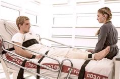 A new Mockingjay Part 2 still of Josh Hutcherson as Peeta Mellark and Willow Shields as Primrose Everdeen was just published in Magazine. The still shows Prim and Peeta in the hospital in. Hunger Games Movies, Hunger Games Fandom, Hunger Games Mockingjay, Mockingjay Part 2, Hunger Games Catching Fire, Hunger Games Trilogy, Suzanne Collins, Josh Hutcherson, Mockingjay