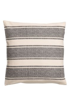 Cushion cover in woven organic cotton fabric with a printed pattern. Rustic Wood Walls, Rustic Wall Sconces, Small Apartment Furniture, Home Decor Furniture, Wood Wall Shelf, H & M Home, Shades Blinds, Pillow Room, Wall Patterns