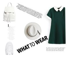 """""""Green style"""" by khatibyara ❤ liked on Polyvore featuring Mansur Gavriel, adidas Originals and Calypso Private Label"""
