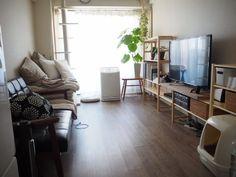 狭い部屋にはパイン材ユニットシェルフが便利です。 : 猫と部屋と私〜整理収納アドバイザー