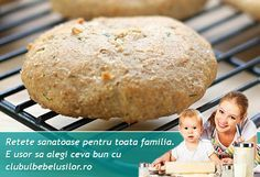 Biscuiti cu iaurt si marar pentru copii dupa 1 an Baby Food Recipes, Healthy Recipes, 1 An, Hamburger, Biscuits, Food And Drink, Health Fitness, Sweets, Cookies