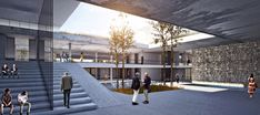 Kayseri Chamber of Commerce Building Comp Purchase PRZ on Behance - Architecture Cultural Architecture, Villa Architecture, Education Architecture, Landscape Architecture Design, Japanese Architecture, Concept Architecture, Memorial Architecture, Japanese Buildings, Plaza Design