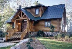 largest log cabin homes | ... upper peninsula michigan log producer and architect hiawatha log homes