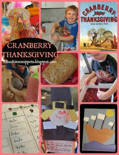 """School Time Snippets: FIAR: """"Cranberry Thanksgiving""""  Link to really cool Mayflower video"""