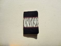 Protège carnet en wax tissu à motif africain blanc