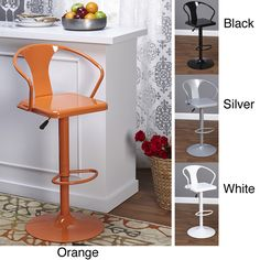 Simple Living Retro Max Adjustable Height/ Swivel Bar Stool - Overstock Shopping - Great Deals on Simple Living Bar Stools