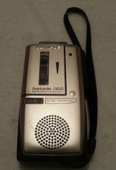 Olympus Pearlcorder J300 Microcassette voice recorder.