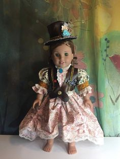 A personal favorite from my Etsy shop https://www.etsy.com/listing/499593183/american-girl-custom-steampunk-outfit