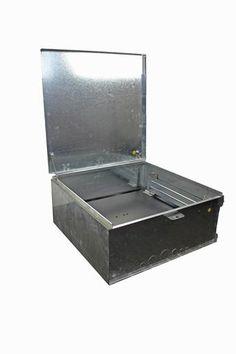 Meter Box Galv, Standard 600 x 600MM - Black Panel $78 + GST