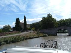 The Canal du Midi near Beziers.  This is an amazing area of France.  Join us in September on our iconic bike & barge trip. See our website for all the details...