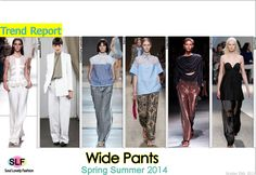 Wide Pants #Fashion Trend for Spring Summer 2014 #spring2014 #trends #pants