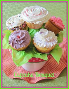 Cupcake Bouquet - Perfect gift to make for Mother's Day or any gift.
