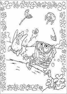 hood spongebob coloring pages - photo#23