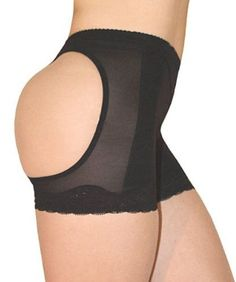 BUTT LIFTER GIRDLE BOY SHORT PANTY WITH OPEN HIP WITH 1PC BRACELET-SIZE S