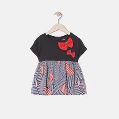 Girl's two-material T-shirt IKKS