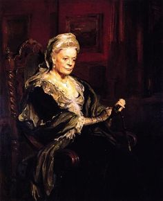 Painting of the Dowager of Downton Abbey Violet Grantham
