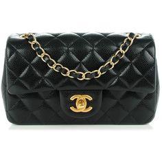 61de57ed0ae2 CHANEL Caviar Quilted Rectangular Mini Flap Black Leather Hobo Handbags,  Chanel Handbags, Leather Purses