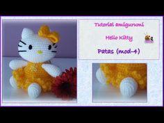 Tutorial amigurumi Hello Kitty - Patas (mod-2) - YouTube