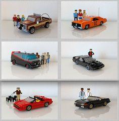 Lego : A team, General Lee, Magnum, Miami Vice, . Lego Film, Lego Tv, Lego Movie, Magnum Pi, Film Cars, Movie Cars, Lego Cars, Lego Knights, Lego Pictures