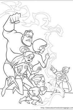 55 The Incredibles printable coloring pages for kids. Find on coloring-book thousands of coloring pages. Family Coloring Pages, Cool Coloring Pages, Disney Coloring Pages, Coloring Books, Free Adult Coloring, Coloring Pages For Kids, Kids Coloring, Disney Animated Movies, Disney Colors