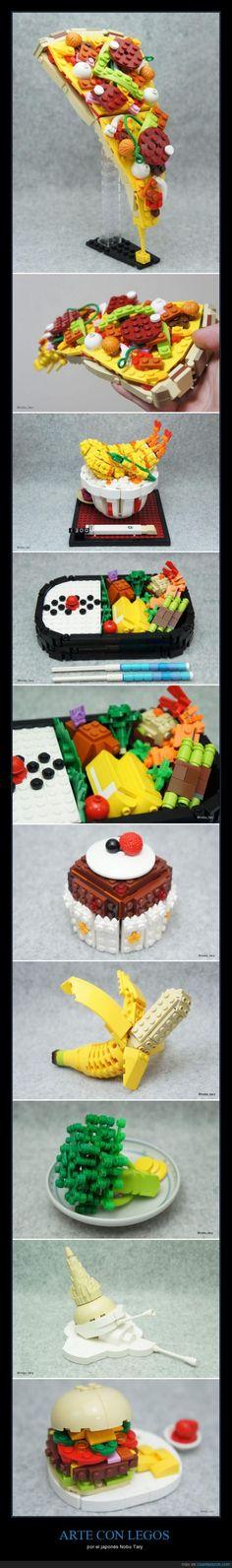 ARTE CON LEGOS - por el japonés Nobu Tary   Gracias a http://www.cuantarazon.com/   Si quieres leer la noticia completa visita: http://www.estoy-aburrido.com/arte-con-legos-por-el-japones-nobu-tary/