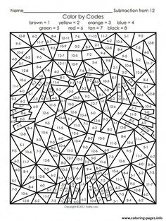 10 Maths Colouring Sheets Maths Colouring Sheets The youngsters can enjoy Number Worksheets, Math Worksheets, Alphabet Worksheets. Halloween Color By Number, Adult Color By Number, Color By Number Printable, Printable Numbers, Color By Numbers, Math Coloring Worksheets, Multiplication Worksheets, Number Worksheets, Kindergarten Coloring Pages