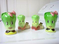 Vintage Celery Head Salt and Pepper Shakers, via Flickr.
