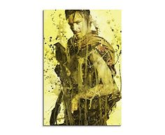 The_Walking_Dead_Daryl_90x60cm Splash Art Paul Sinus Aquarell, Gemälde, Kunstbild auf Leinwand
