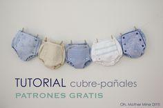 DIY, patrones, ropa de bebe y mucho más para coser.: Tutorial de cubre pañales o braguitas de bebé (pat...