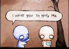 i want you to hug me Emo Pictures, Pictures To Draw, Emo Pics, Cute Emo, Cute Love, Emo Love Cartoon, Cartoon Art, Emo Love Quotes, Emo Cartoons