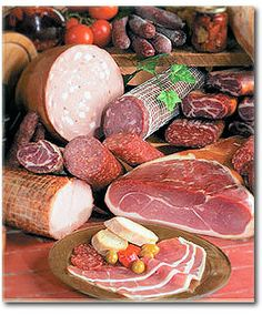 Italian charcuterie, some of the BEST in the world. Try mortadella in a sandwich or cut finely in pasta sauce; proscuitto wrapped around cantaloupe slices w/ squeeze of lemon...yum.
