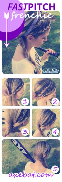 Pony tails are so old school! Try the Fastpitch Frenchie Braid!
