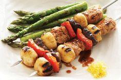 Mushroom-Kushiyaki. Use olive oil, coconut sugar and fermented coconut seasoning