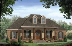 Traditional House Plan with 1888 Square Feet and 3 Bedrooms from Dream Home Source | House Plan Code DHSW076711