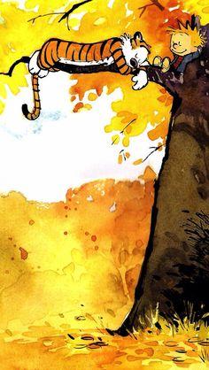 Calvin et Hobbes Calvin Y Hobbes, Little Buddha, Drawn Art, Art Populaire, Bd Comics, Illustrations, Hobbs, Comic Strips, Comic Art