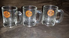 3 Mini A&W Root Beer Mugs  1968 Logo  Very by InclusiveVintage
