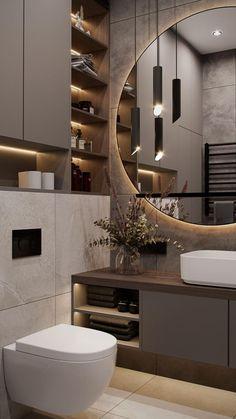 Washroom Design, Toilet Design, Bathroom Design Luxury, Modern Bathroom Design, Modern House Design, Modern Luxury Bathroom, Wc Design, Luxurious Bathrooms, Minimalist Bathroom Design