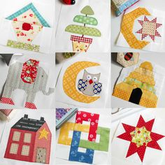 "Just a selection from the fifty 6"" blocks from The Patchsmith's Sampler Quilt Block book. Are you sewing along?"