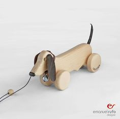 Wooden Toy wooden Dog ecofriendly personalized by emanuelrufoToys